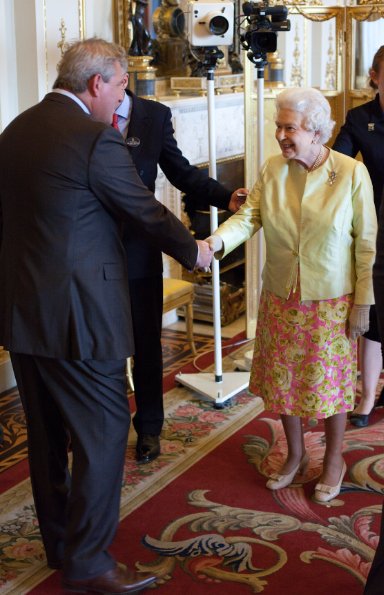 Chris Precious meets the Queen