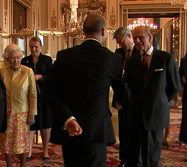 Neil Sumpter and Duke of Edinburgh