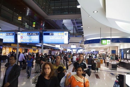 people counting airport