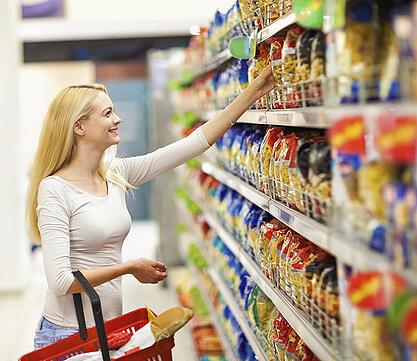 Queue management for supermarkets