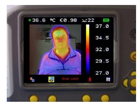 50% Visual image 50% Thermal image