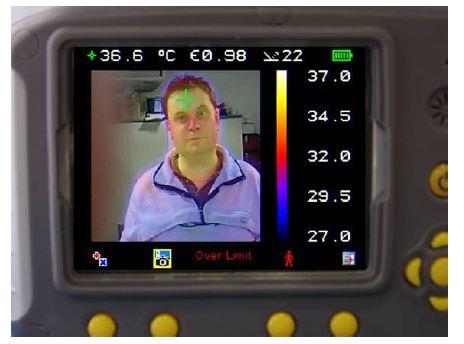 75% Visual image 25% Thermal image